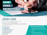 Lowongan Kerja Dosen Tetap Universitas Informatika dan Bisnis Indonesia (UNIBI)