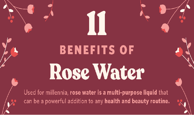 11 Benefits of Rose Water #infographic