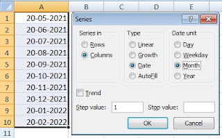 Autofill Dates in Excel Cells