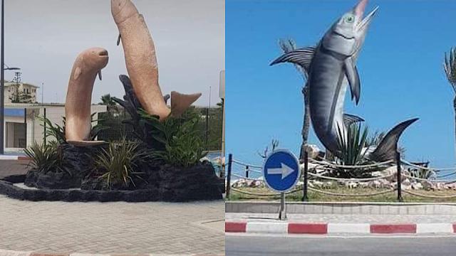 بعد السخرية والانتقادات .. هذه حقيقة '' تمثال الحوت ''