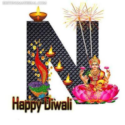 Diwali N name image