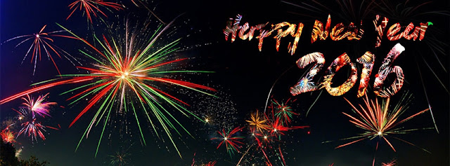 Happy New Year 2016 Fireworks Cover photo for facebook timeline and twitter image