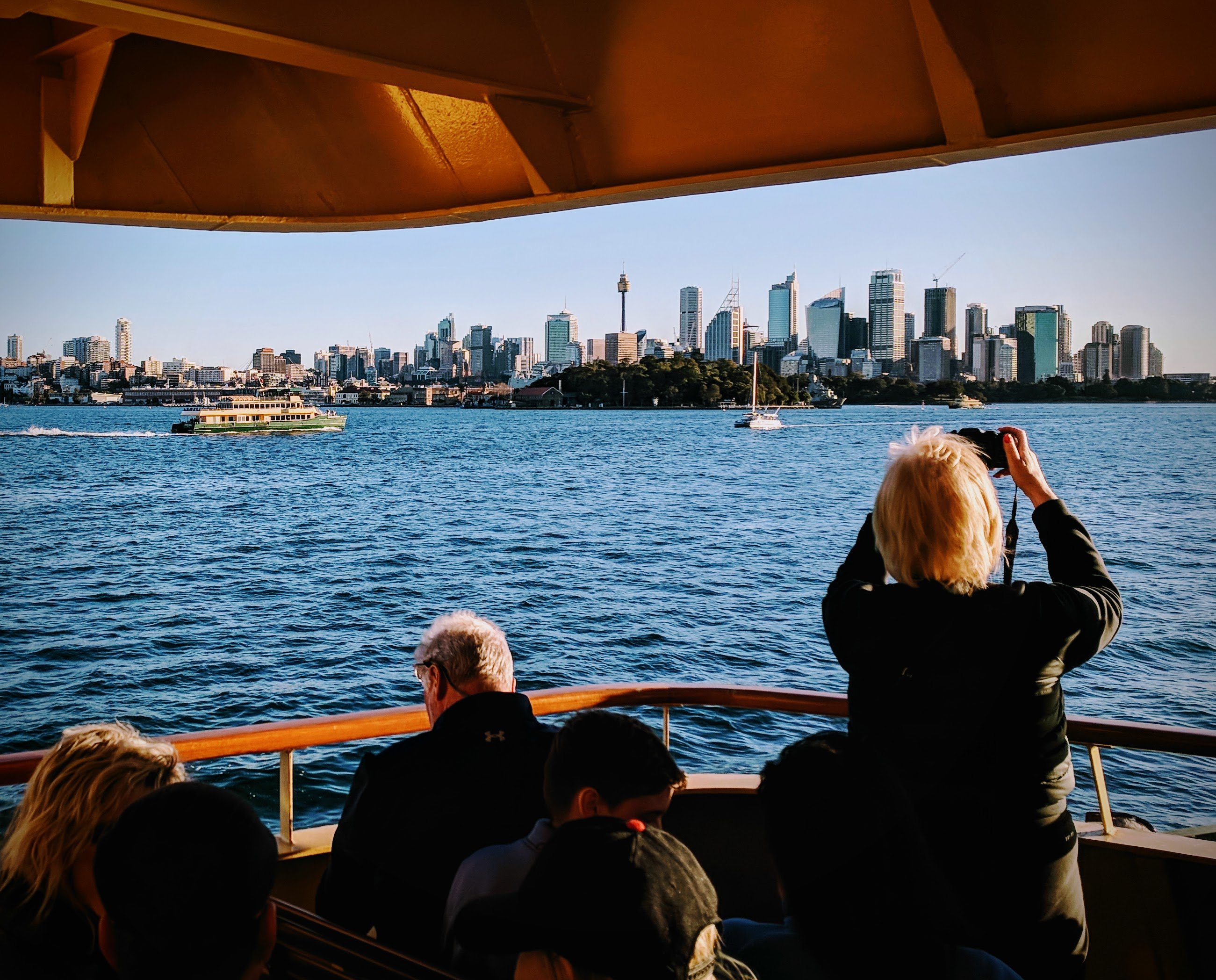 Manly Fast Ferry to Sydney City, skyline view