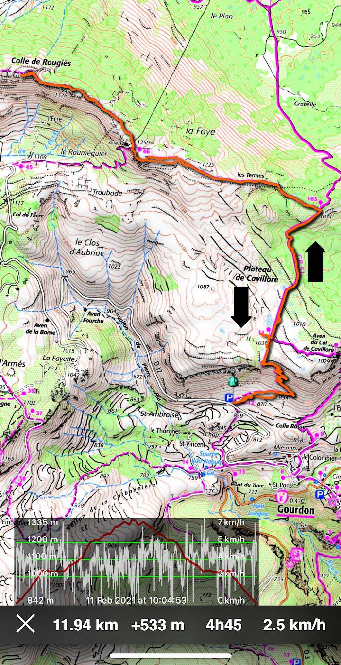 Gourdon to Colle de Rougiès hike