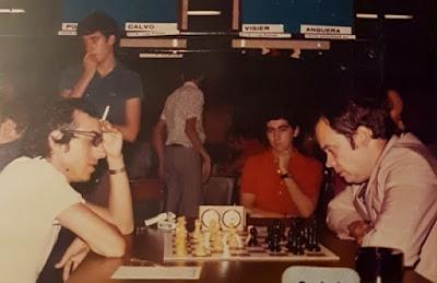 Partida de ajedrez Visier-Anguera, 1973