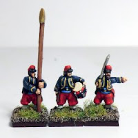 ACW11 Zouaves, Forage Caps – command.