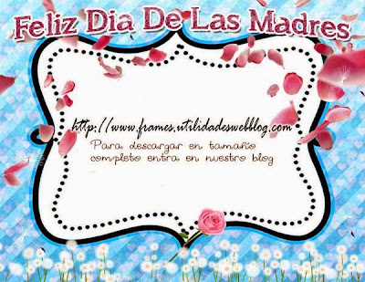 marco decorado con petalos de rosa y dienteleones con motivo del  dia de las madres