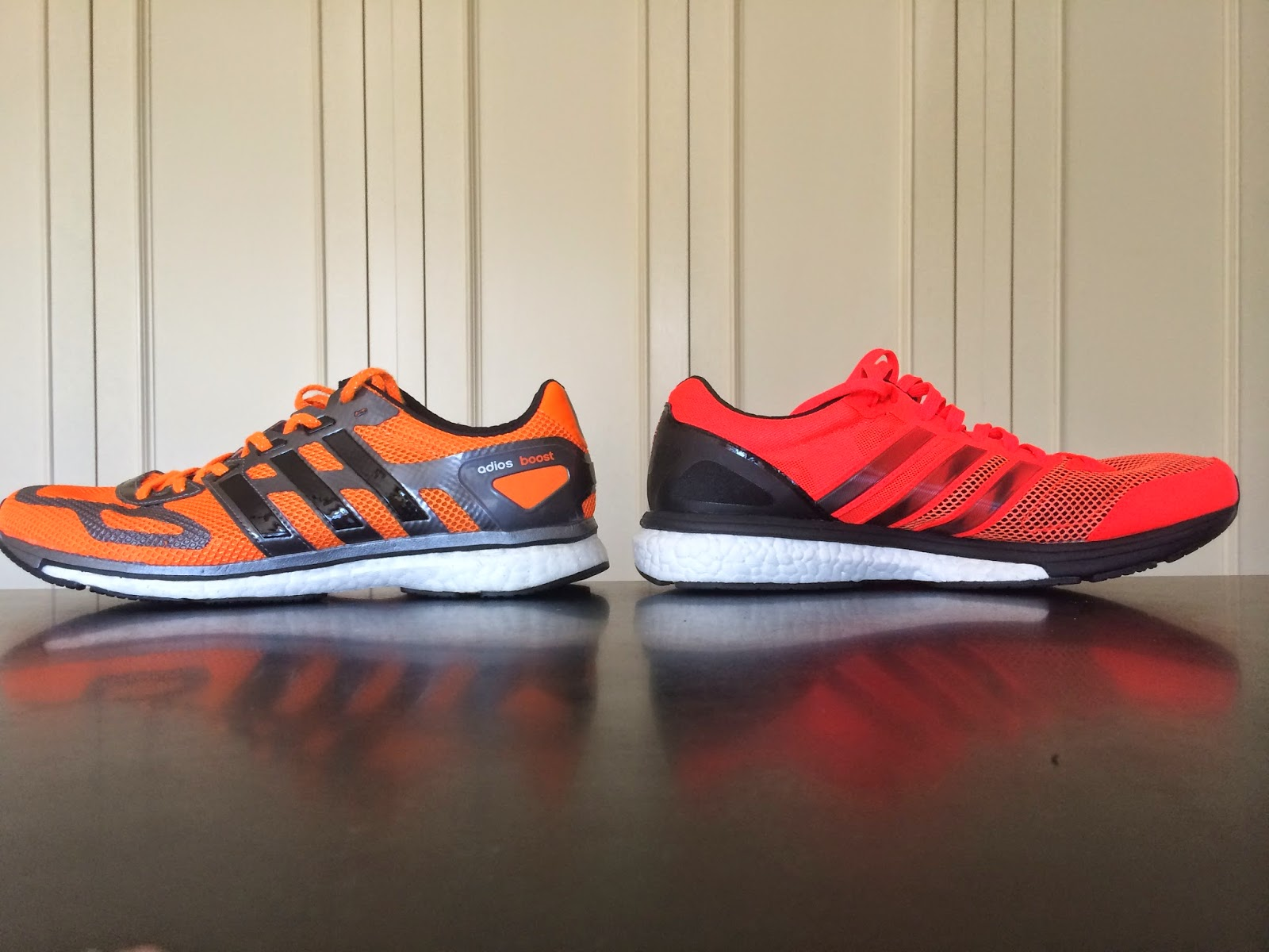 ... adios Boost (left) Boston Boost (right)  adidas Adizero ... de16d217f