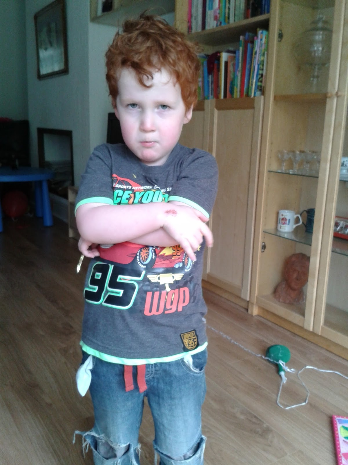 disciplining boys - Ieuan Hobbis and his spooky look