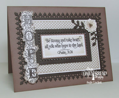 ODBD Custom Lavish Layers Dies, ODBD Custom Double Stitched Rectangles Dies, ODBD Custom Birds and Nest Dies, ODBD Custom Lovely Leaves Dies, ODBD Ephemera Essentials Paper Collection, Faith, Hope, and Love, Grace's Hope, Card Designer Angie Crockett