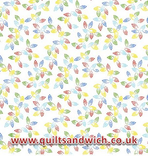 Spangles White Multi www.quiltsandwich.co.uk extra wide