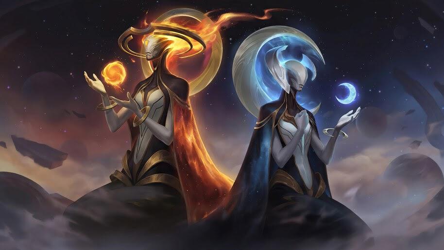 The Golden Sister and The Silver Sister, Targon, Celestial, Legends of Runeterra, 4K, #5.2750