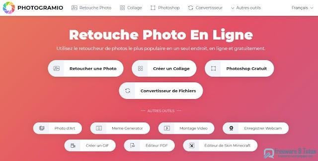 Photogramio : une mine d'outils gratuits pour éditer, convertir vos photos, vidéos et documents