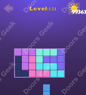 Cheats, Solutions, Walkthrough for Move Blocks Easy Level 131