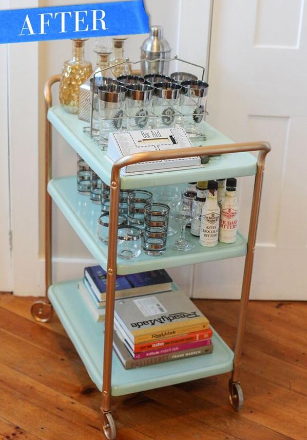 DIY Home Sweet Home: 9 Brilliant Diy Bar Cart Ideas