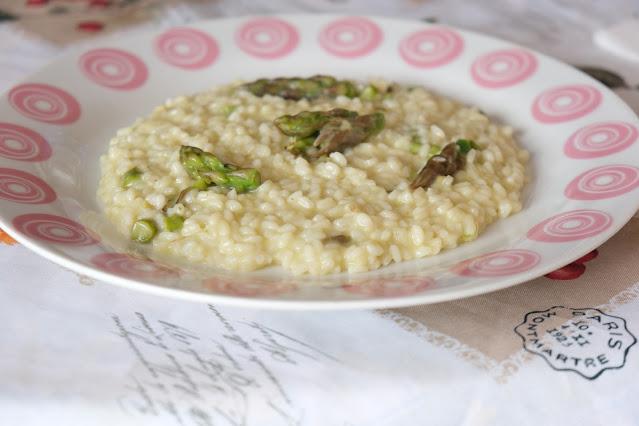 Asparagi con risotto