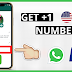 How to Get a FREE (+1) US Number [USA Whatsapp] | 2020