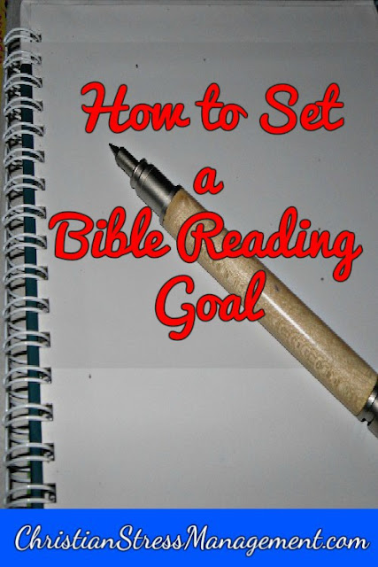 setting goal to read Bible