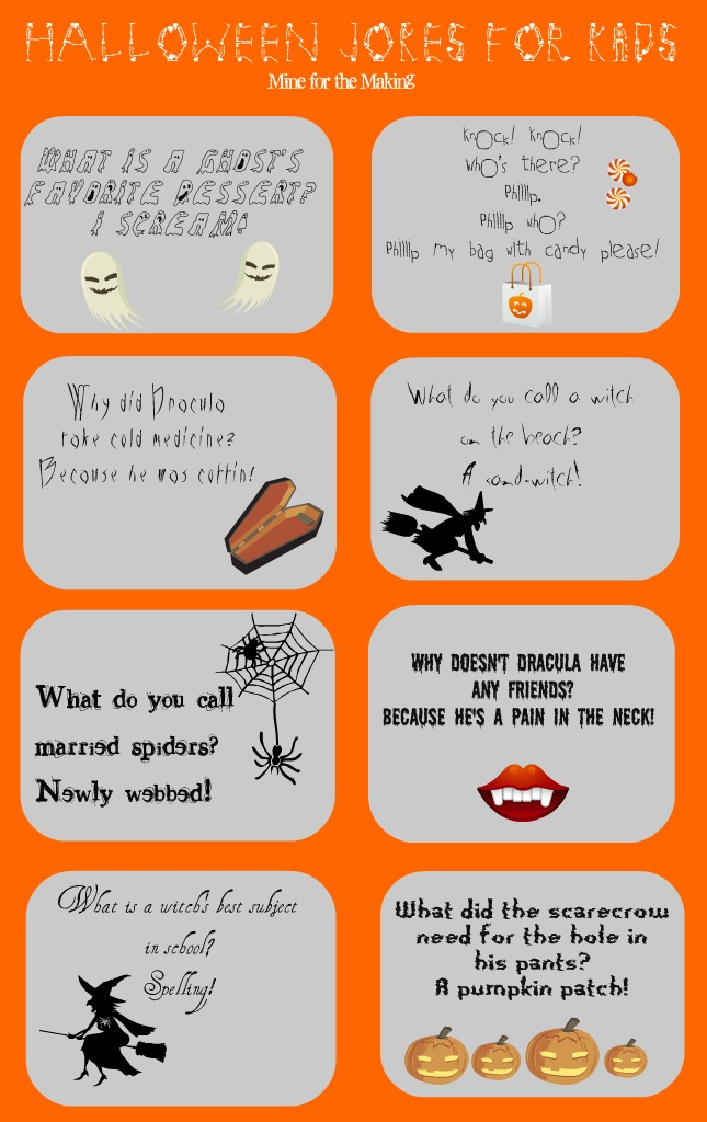 <b>Halloween Jokes</b> for <b>Kids</b> {printable} - Mine for the Making