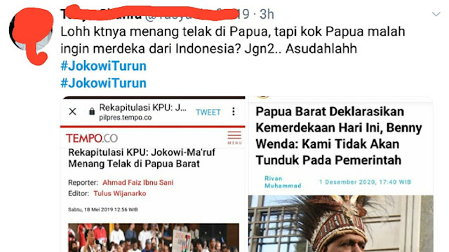 Tagar #JokowiTurun Trending di Twitter, Gegara Papua Pengin Merdeka?