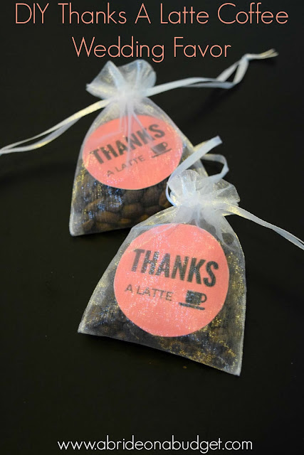 Coffee lovers wedding favor