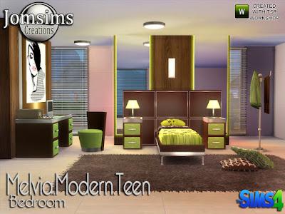 Подростковая комната — наборы мебели и декора для Sims 4 со ссылками для скачивания