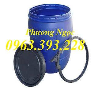 Cung cấp thùng phuy nhựa 50L nắp mở tại Hà Nội  Thùng phuy nhựa 50L, Thùng phuy nhựa nắp mở