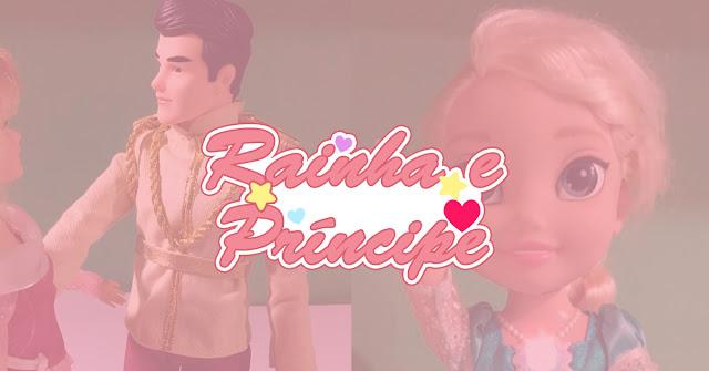 Post sobre boneca Elsa e príncipe, ambos da Disney