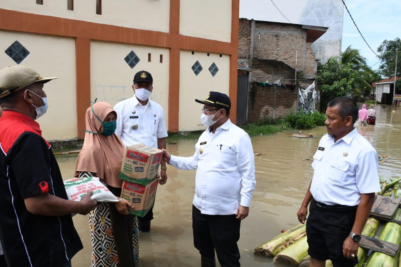 4.570 KK Warga Sergai Yang Tersebar di Lima Kecamatan Terdampak Banjir,