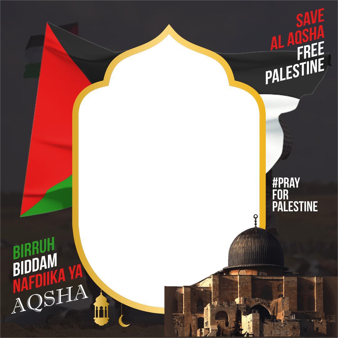 Download Twibbon Pray For Palestinee 2021 - Doa untuk Palestina Twibbonize