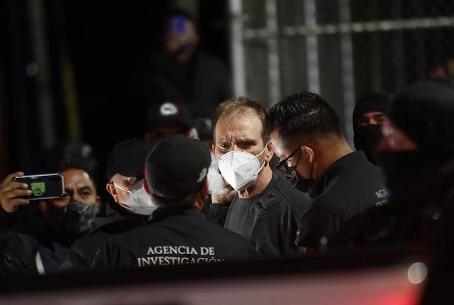 """Liberan a """"El Güero Palma"""" durante la madrugada pero lo trasladaron a la SEIDO en un convoy de al menos 40 unidades con elementos armados hasta los dientes"""