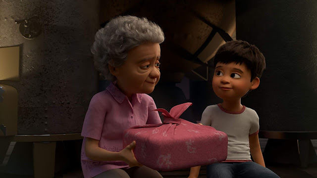 Pixar Wind Grandmother and Grandson