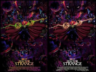 Doctor Strange Marvel Screen Print by Raid71 x Grey Matter Art