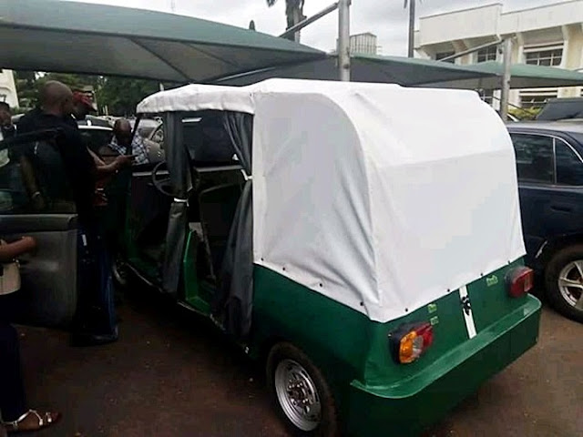 See Amazing Photos Of The UNN's First Electric Car In Nigeria