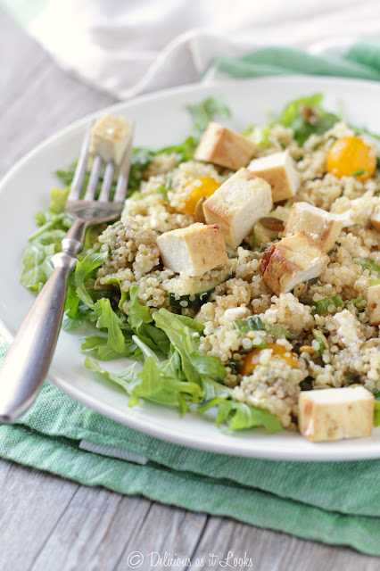 California Quinoa Salad with Mojito Dressing {Low-FODMAP, Gluten-Free}  /  Delicious as it Looks