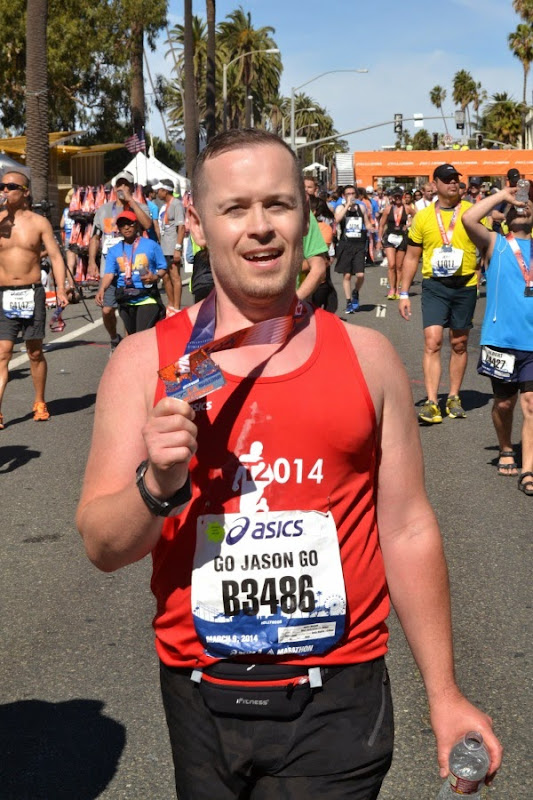 After L.A. Marathon 2014 Finish Line
