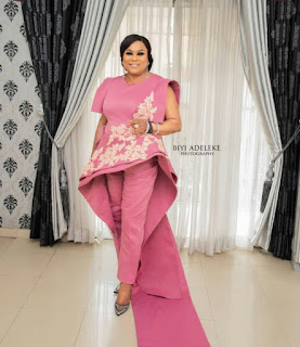 "Check Out Sola Sobowale Outfit As She Steps Out For AMMA Award ""King Of The Boy"""