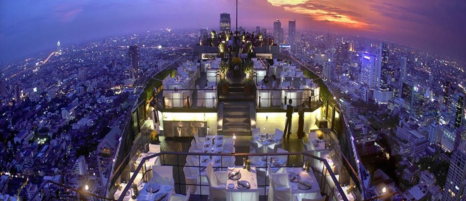 The World's 30 Best Rooftop Bars… Everyone Should Drink At #9 At Least Once. - The Vertigo Bar provides a stunning panoramic view of Bangkok, Thailand.