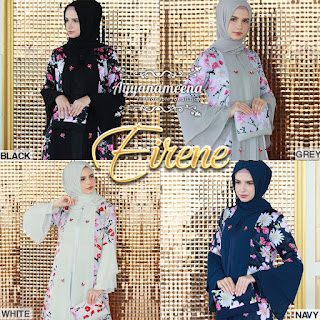 model long dress terbaru bahan sifon