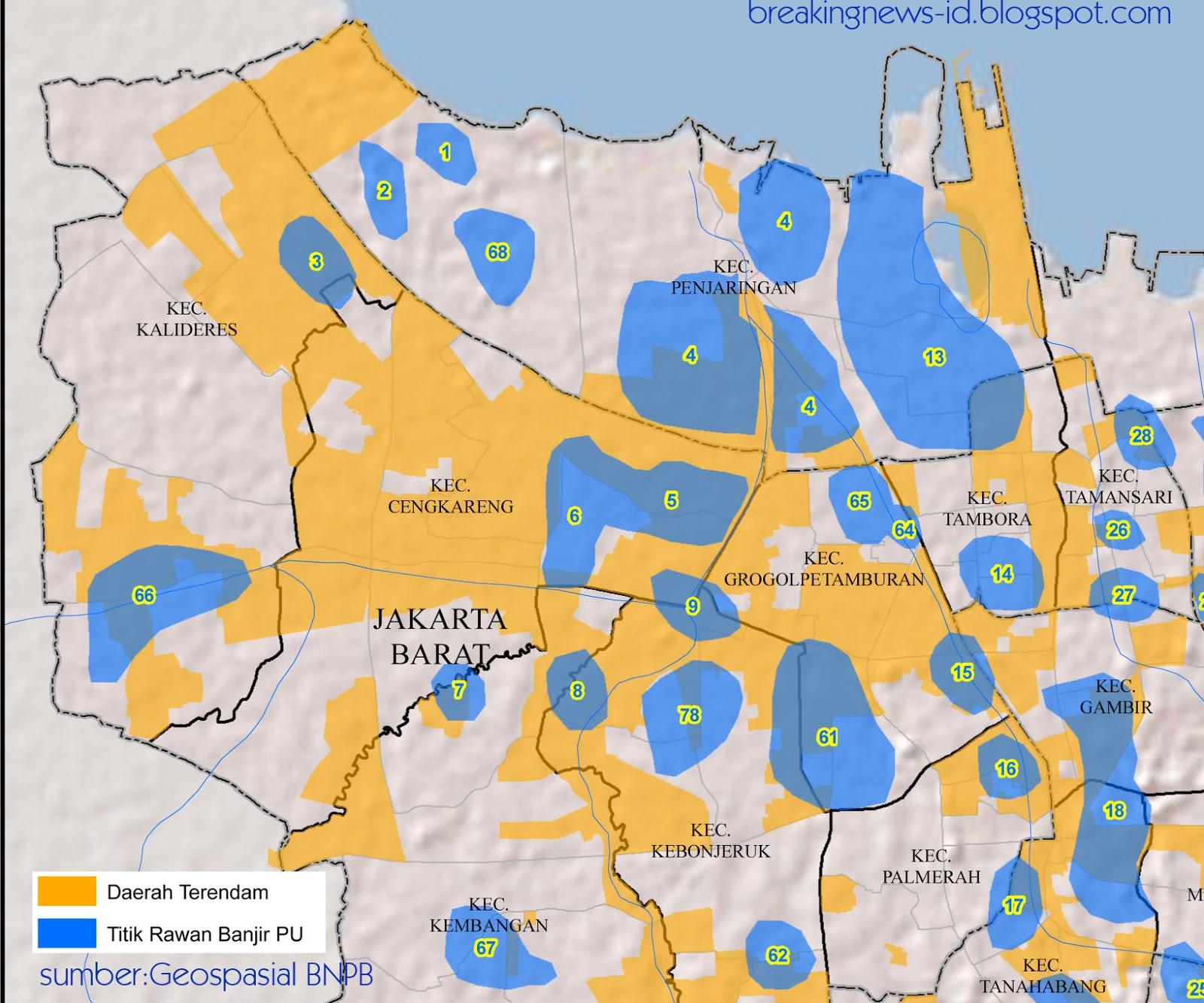 Breaking News Indonesia dan Dunia: Peta Banjir Jakarta ...