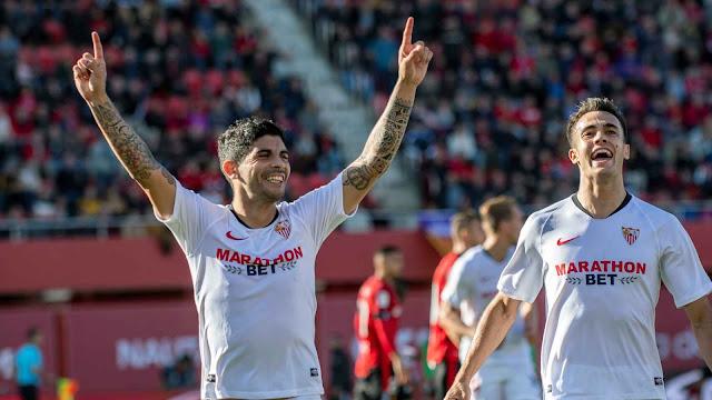 Datos ligueros del Sevilla FC en Mallorca
