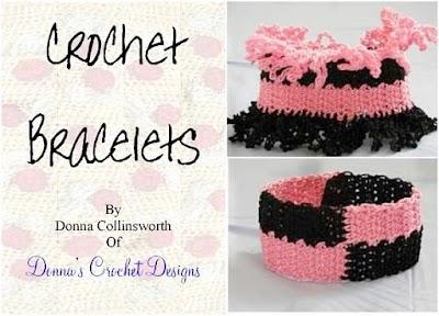 Revista brazaletes crochet tutoriales