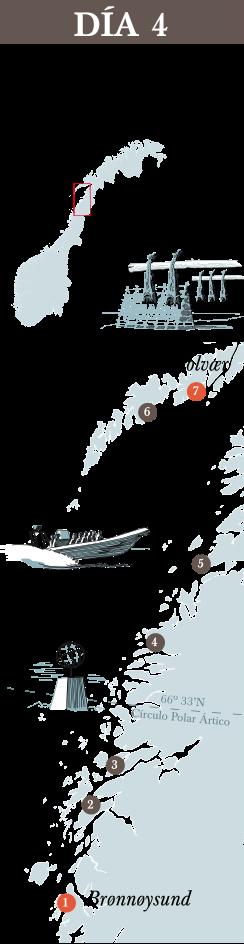 Recorrido dia 4 del trayecto de Hurtigruten.