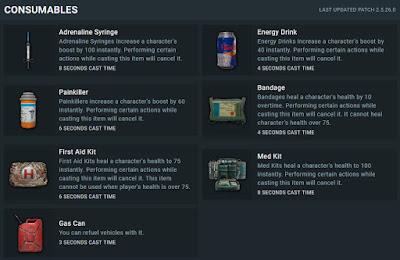 شرح ادوات الطاقة فى ببجي Pubg Health