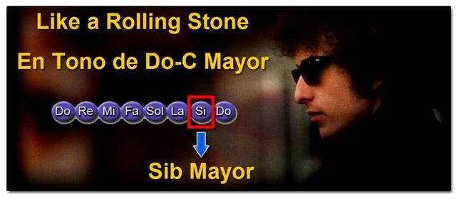 Tonalidad de la Canción Like A Rolling Stone de Bob Dylan