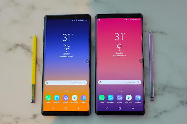 Perbandingan Antara Galaxy Note 9 dan Note 8