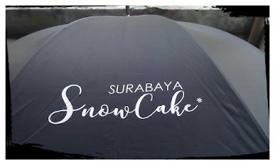Contoh Sablon Payung SURABAYA SNOW CAKE