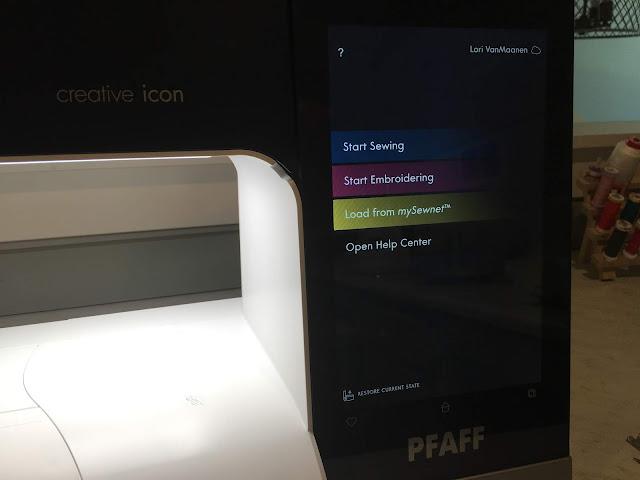 Pfaff Creative Icon Home screen