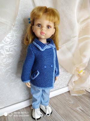 Кардиган для куколки