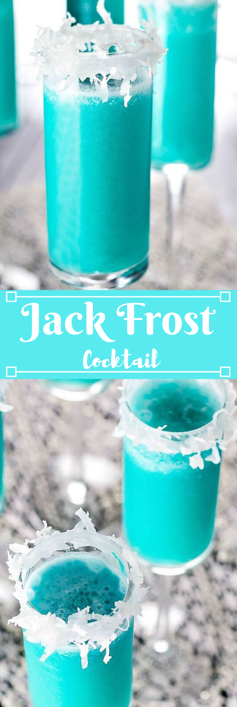 JACK FROST WINTER COCKTAIL #drink #cocktail #sangria #recipes #smoothie